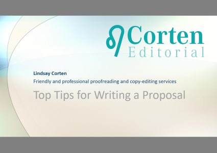 Top Tips for Writing a Proposal by Lindsay Corten